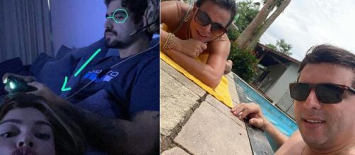 6 casais de famosos que estão isolados juntinhos. (Reprodução/Instagram/@caiocastro/@mariagretchen)