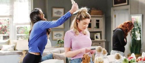 Beautiful, trame Usa: Penny aggredisce Flo colpevole di aver smascherato Sally.