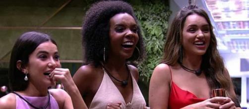 Manu, Rafa e Thelma disputam a final do BBB (Reprodução/TV Globo)