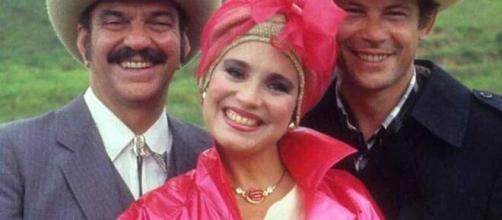 Personagens da novela 'Roque Santeiro'. (Reprodução/TV Globo)