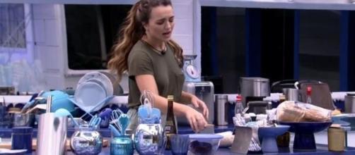 Rafa canta música de ex-marido no 'BBB20'. (Reprodução/TV Globo)