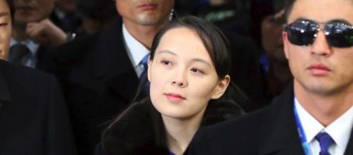 Kim Yo-jong en los Juegos Olímpicos de Pieonchang en 2018.