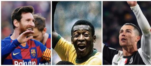 Football : Les meilleurs joueurs de l'histoire selon Pelé (Crédit instagram/leomessi/pelé/cristiano)