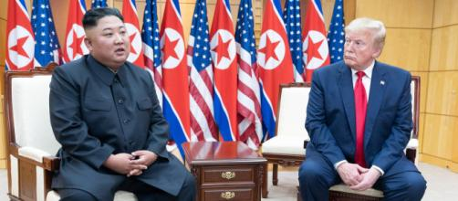 Kim Jong-un e Donald Trump nel 2018 a Singapore