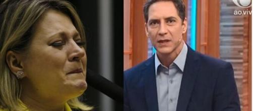 Lacombe defende Bolsonaro contra Joice Hasselman e é ovacionado nas redes sociais. Créditos: https://escapuliu.com.br/