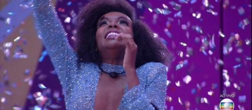 Thelma é a grande campeã do BBB20. (Reprodução/Tv Globo)