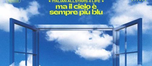 """Un estratto della copertina del singolo corale """"Ma il cielo è sempre più blu"""" - fonte: Facebook"""