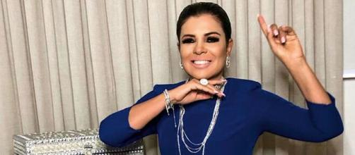 Mara Maravilha divulga fake news ao vivo no SBT e desafetos torcem por suspensão. (Arquivo Blasting News)