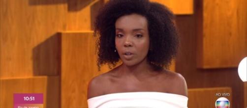 Thelma, vencedora do 'BBB 20', participa do 'Encontro com Fátima Bernardes'. ( Reprodução/TV Globo )