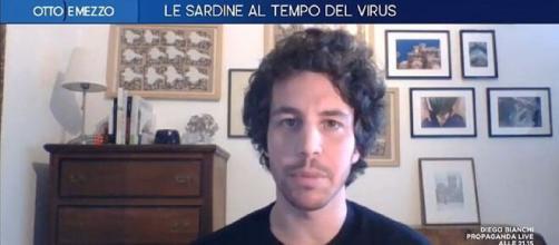 Coronavirus, Mattia Santori del Movimento delle Sardine ospite di 'Otto e Mezzo'.
