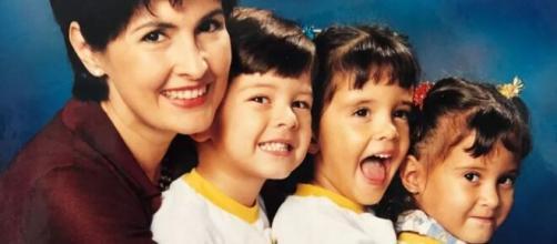 Fátima Bernardes com os trigêmeos pequenininhos. (Reprodução/Instagram/@fatimabernardes)