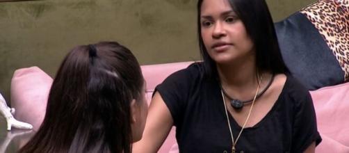 Flay conversa com Mari sobre paredão. (Reprodução/TV Globo)