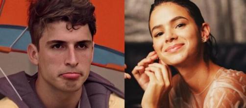 Marquezine e Prior conversaram, e o ex-brother elogiou a atriz. (Foto: Montagem/Globo/Instagram).