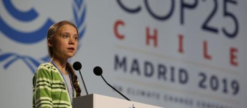 Greta Thunberg alla Cop25 di Madrid dicembre 2019.