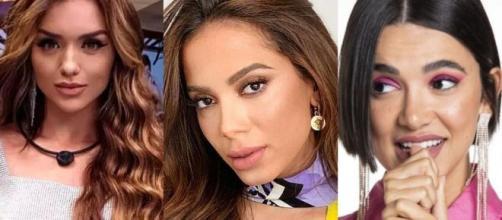 Web suspeita que alfinetada de Anitta seja para Manu ou Rafa Kalimann. (Foto: Montagem/Globo/Instagram).