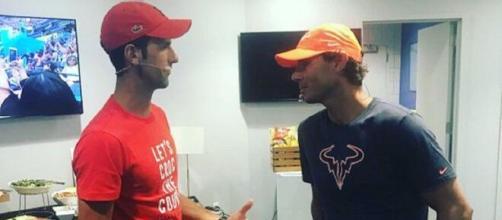 Nole Djokovic e Rafa Nadal uniti nella lotta al coronavirus.