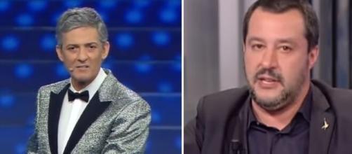 Rosario Fiorello e Matteo Salvini.