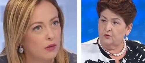 Giorgia Meloni contro il Ministro delle Politiche Agricole Teresa Bellanova.