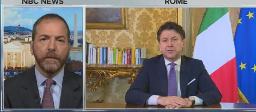 """Giuseppe Conte in un'intervista alla Nbc: """"Siamo devastati per le 15000 vittime del coronavirus""""."""