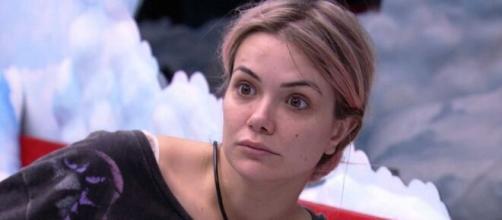 Marcela está na berlinda e poderá ser a eliminada da semana. (Reprodução/ TV Globo).