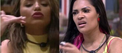 Rafa e Flay discutiram e as acusações de uma contra a outra rolaram soltas. (Foto: Montagem/Globo).