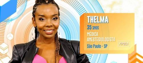 Thelma ganhou a prova do líder. (Reprodução/TV Globo)