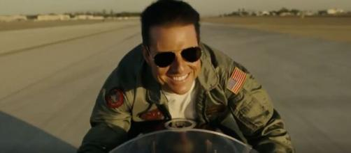 Tom Cruise em cena de 'Top Gun: Maverick'. (Arquivo Blasting News)