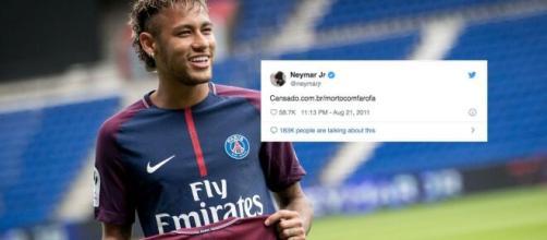 Tweets antigos de Neymar Jr. fazem sucesso até hoje. (Fotomontagem)