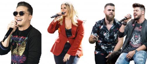 Cantores como Wesley Safadão, Marília Mendonça e Zé Neto e Cristiano marcaram data de live. (Arquivo Blasting News)