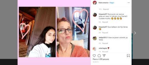 Maria Blanco su Instagram scrive di sua figlia.
