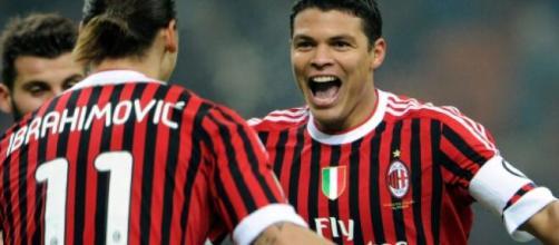 Nella foto Thiago Silva con la maglia del Milan.