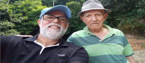 Pastor Claudio Duarte e seu pai que faleceu. (Reprodução/Instagram/@claudioduarte)