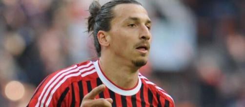 Zlatan Ibrahimovic, punta del Milan.