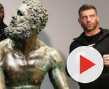 Deontay Wilder e Clemente Russo posano insieme in occasione della visita a Roma dell'ex campione del mondo dei pesi massimi nel 2019.