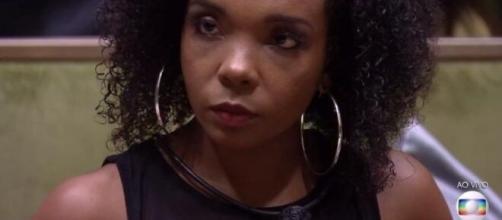 """""""Ela que não venha gritar aqui comigo"""", diz Thelma sobre Flay. (Reprodução/TV Globo)"""