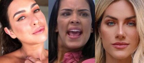 Fê Paes Leme, Ewbank e Preta Gil detonaram as falas de Ivy. (Foto: Montagem/Instagram/Globo).