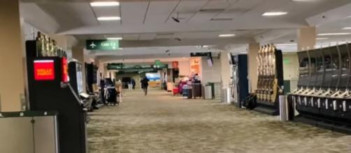 Airports empty, Airlines losing millions as COVID-19 quarantines widen. [Image source/CBN News YouTube video]