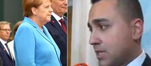 Angela Merkel e Luigi Di Maio.