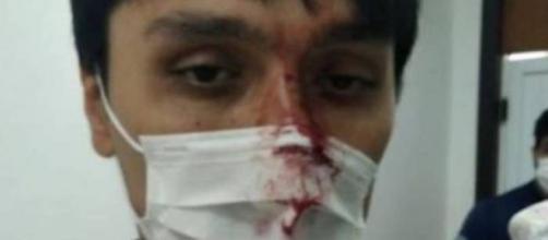 Covid-19: Médico leva um soco na cara após paciente ser diagnosticado com vírus. (Simepar/Divulgação)