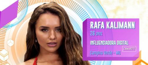 """Rafa Kalimann é uma das participantes do """"BBB20"""". (Reprodução/TV Globo)"""