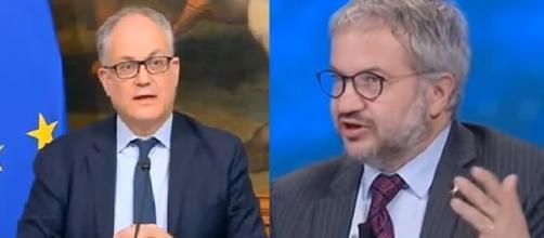 Roberto Gualtieri e Claudio Borghi