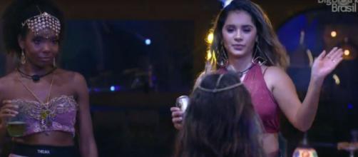 Thelma durante a festa Mil e Uma Noites. ( Reprodução/TV Globo )