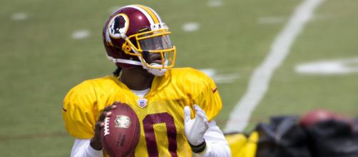 Robert Griffin III was named Offensive Rookie of the Year in 2012. [Image Source: Flickr | F B]