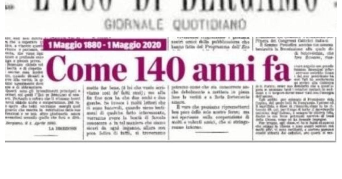 L'Eco di Bergamo compie 140 anni, sempre più stretto il ...