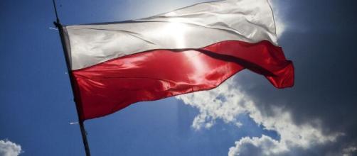 A Polish flag flying in the air. [Image via Karolina Grabowska - Pixabay]