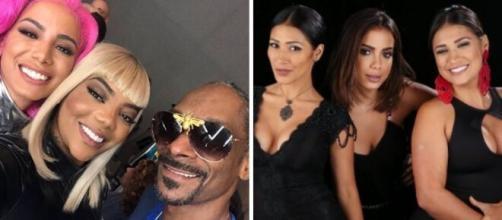 Anitta já teve desentendimento com Ludmilla e Simaria que faz dupla com Simone. (Reprodução/Montagem)