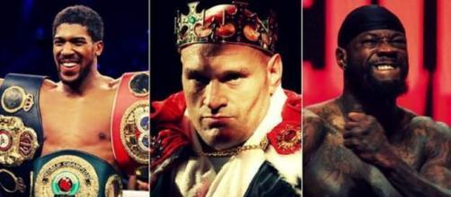 Anthony Joshua, Tyson Fury e Deontay Wilder.
