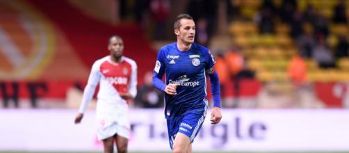 Lienard risquerait de quitter Strasbourg cet hiver selon son agent. credit: Twitter/Ligue 1 Conforama