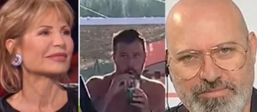 Lilli Gruber, Matteo Salvini e Stefano Bonaccini.