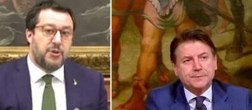 Matteo Salvini e Giuseppe Conte.